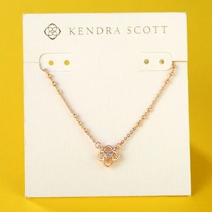 New Kendra Scott Rue Rose Gold Necklace